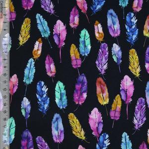 Bilde av Colourful Feathers Sort - Jersey
