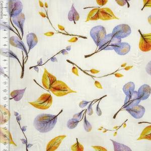 Bilde av Lavendel Leaves Broderi - GOTS Musselin