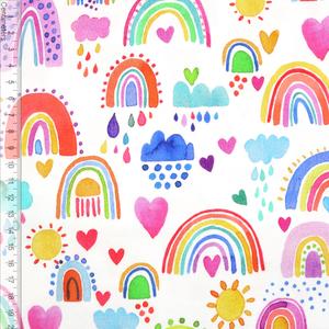 Bilde av Colourful Rainbows Hvit - Jersey