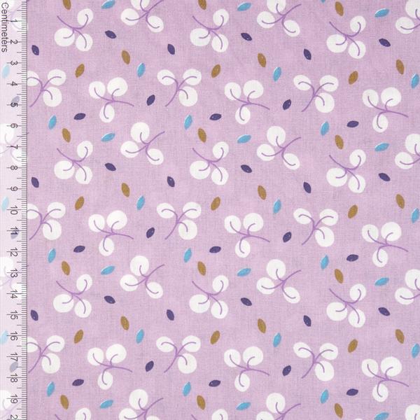 Leaves Lavendel - Fast Bomull