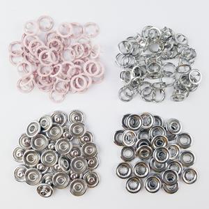 Bilde av 50 pk Babyrosa Ring Snapsource metalltrykknapp