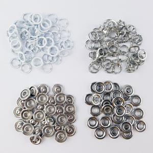 Bilde av 50 pk Hvit Ring Snapsource metalltrykknapp