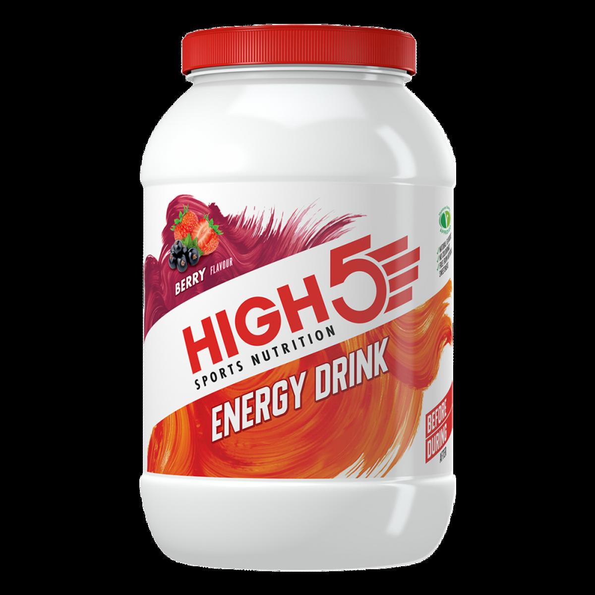 High5 Energy Drink Bær 2,2kg Sportsdrikk pulver