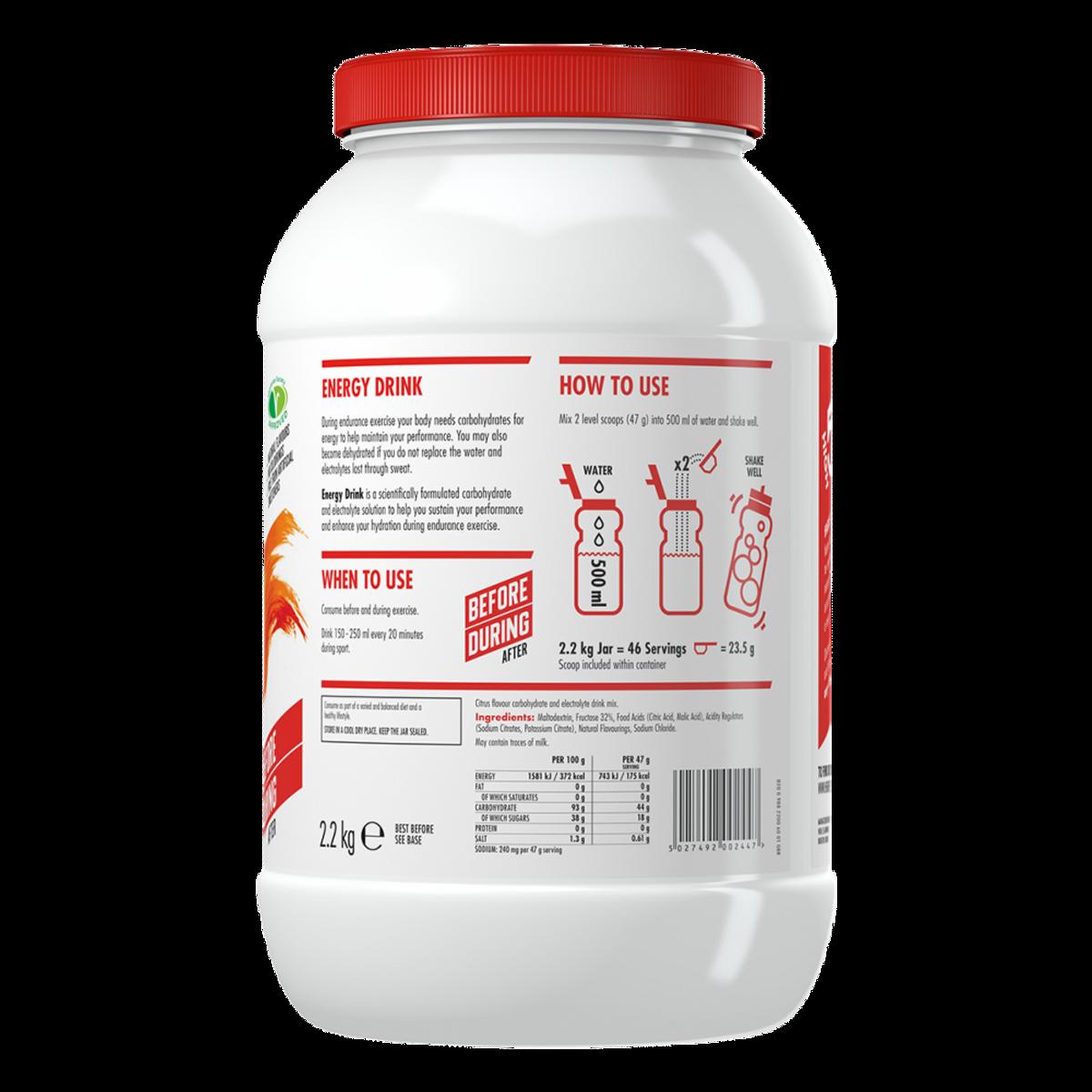 High5 Energy Drink Sitrus, 2,2kg Sportsdrikk Pulver