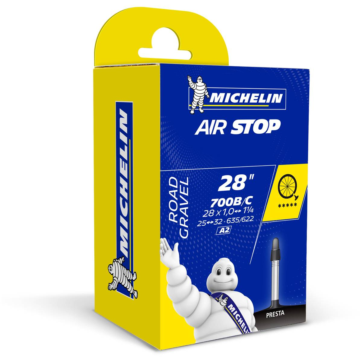 Michelin Airstop A2 25/32-622mm Presta Slange
