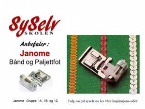 Bilde av Janome Bånd&Paljettfot - 9mm