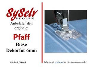 Bilde av Pfaff Biese Dekorfot 6mm