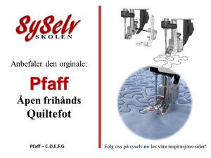 Bilde av Pfaff Frihånds Quiltefot