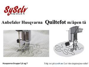 Bilde av Husqvarna Quiltefot m Åpen tå