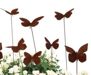 Bilde av sommerfugler på pinne 3 stykk assortert