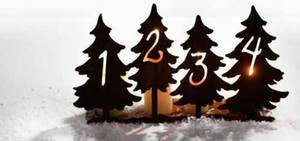 Bilde av adventstake med trær i rust