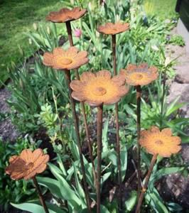 Bilde av Blomster pinne med stort hode 100cm