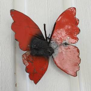 Bilde av Sommerfugl til vegg rød