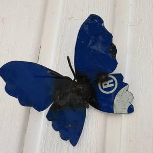 Bilde av Sommerfugl til vegg blå