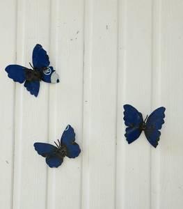 Bilde av Sommerfugl til vegg blå 3 pakk