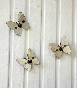 Bilde av Sommerfugl til vegg hvit 3 pakk