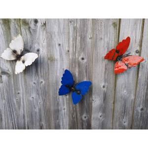 Bilde av Sommerfugl til vegg 3 pakk 1blå,1hvit,1rød