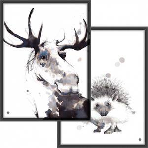 Bilde av PAKKETILBUD Pinnsvinet + Elgen i blekk
