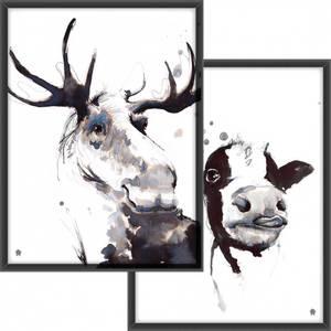 Bilde av PAKKETILBUD  Elgen i blekk + Kua