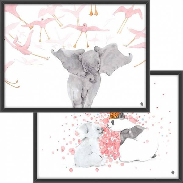 PAKKETILBUD Elefanten og flamingoene + Pandaen og koalaen