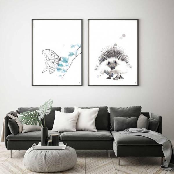 PAKKETILBUD Pinnsvinet + Sommerfuglen