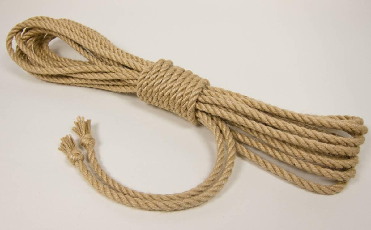 Tossa Jute Tau - 5mm x 8m - Ubehandlet m/Thistle Knot