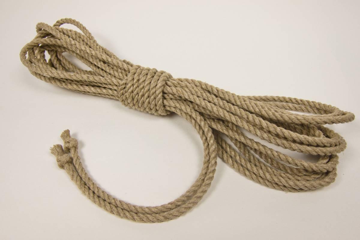 Lin Tau - 5mm x 8m - Ubehandlet m/Thistle Knot
