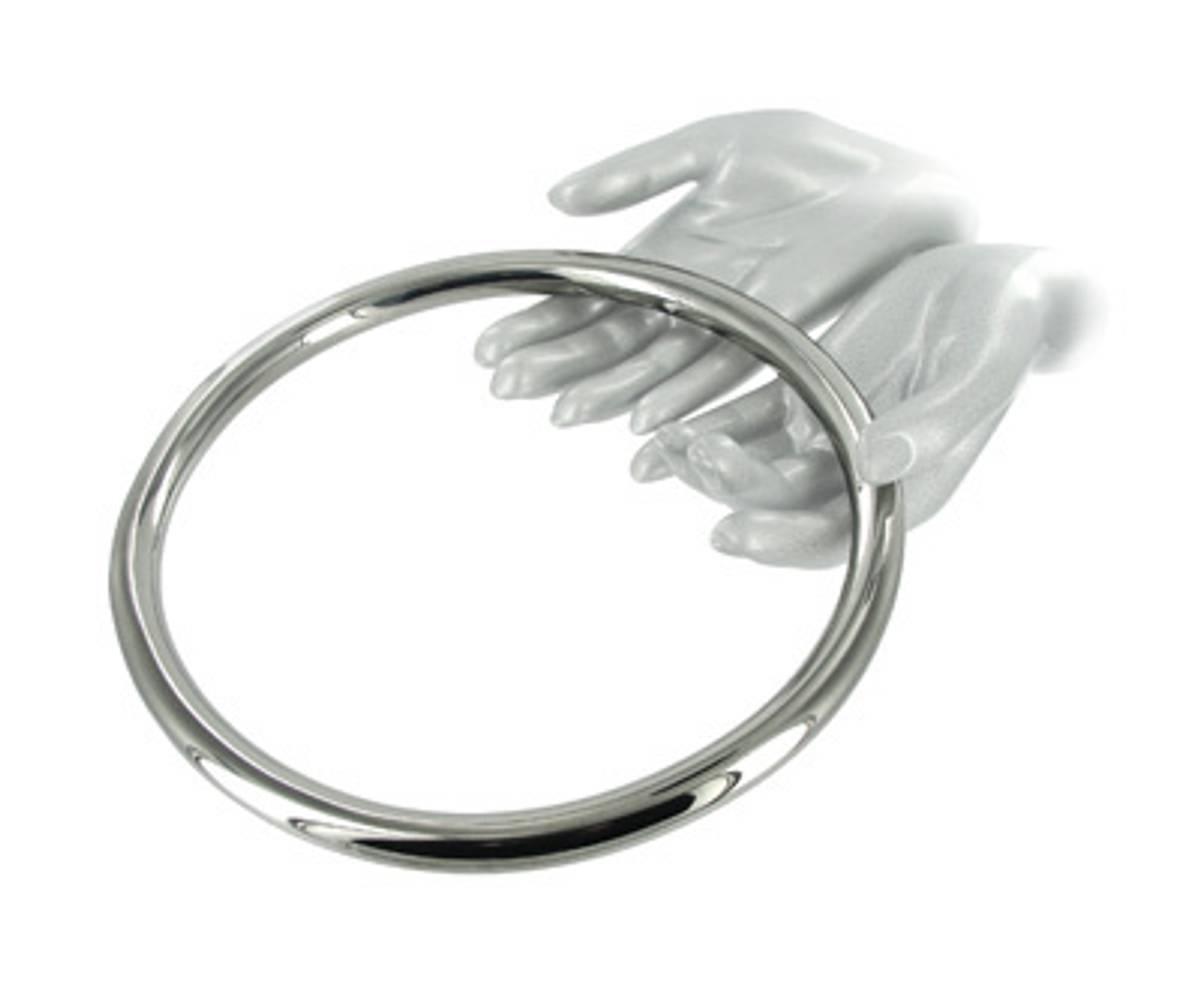 Shibari Ring i Stål - 23cm
