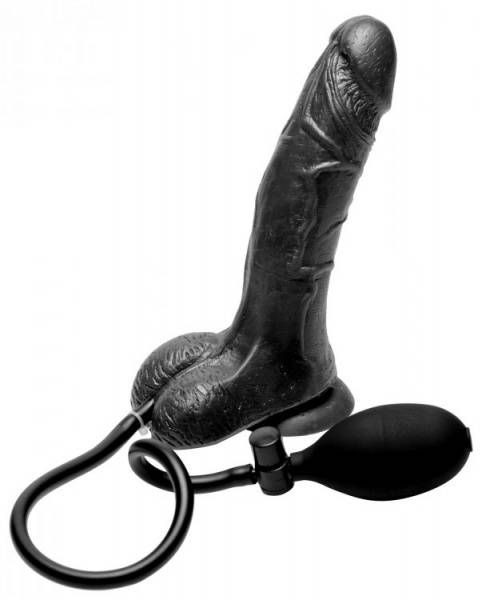 Bilde av Trinity Vibes - Inflatable Suction Cup Dildo - Black