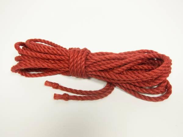 Bilde av Ogawa Jute Tau - 6mm x 8m - Ubehandlet m/Thistle Knot - Red