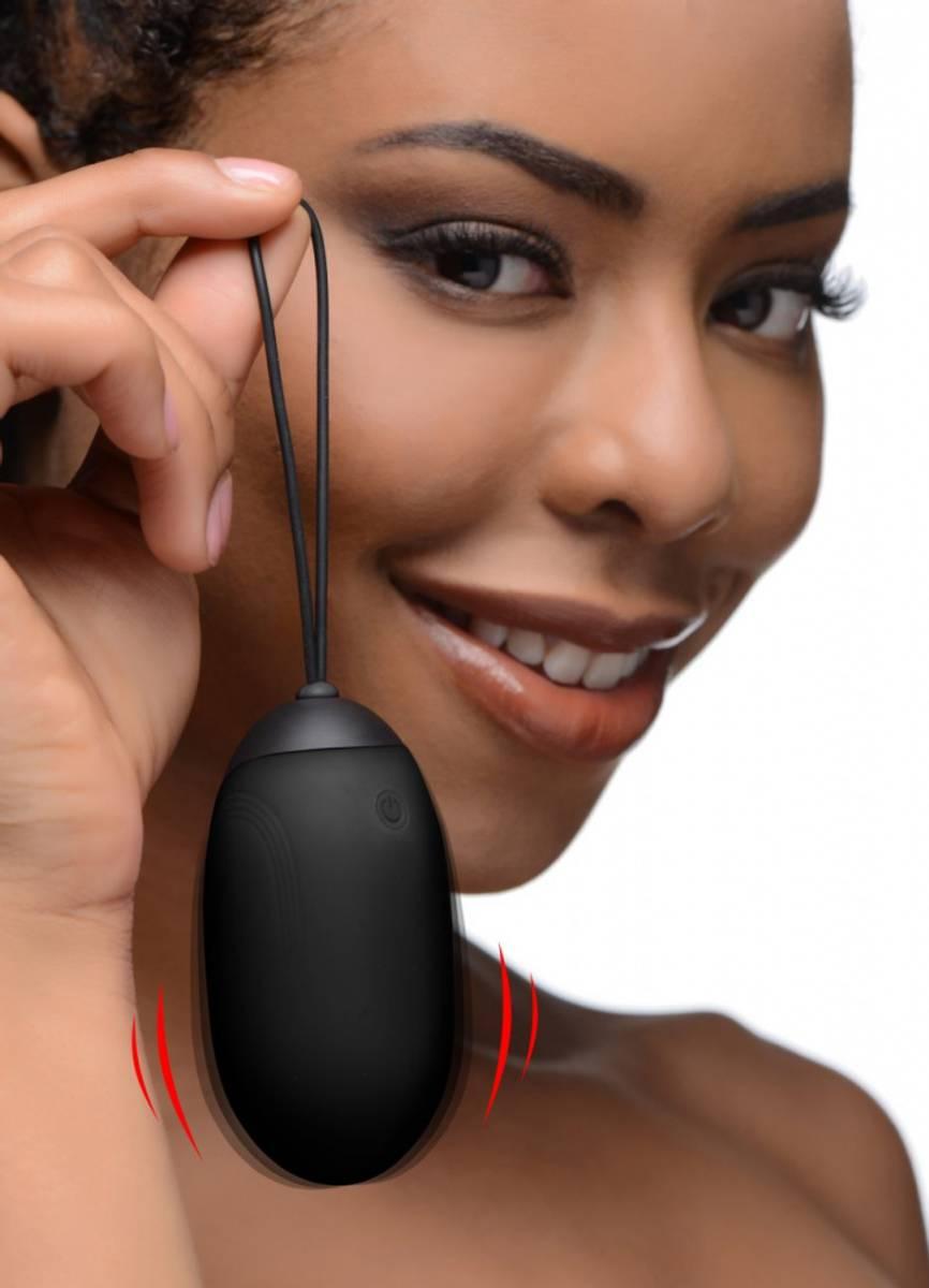 Bang - XL Silicone Vibrating Egg - Black