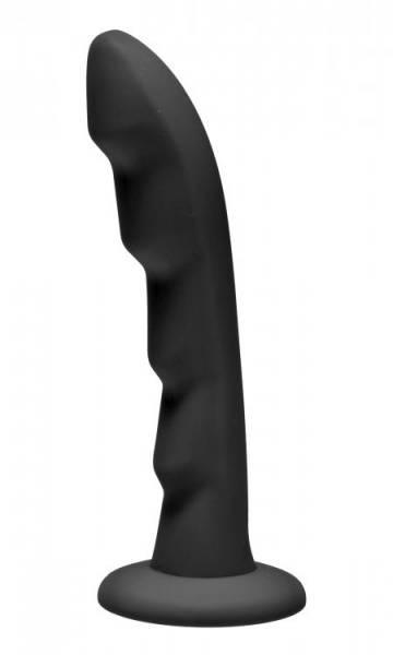 Bilde av Strap U - Ripples - Silicone Strap On Harness Dildo - Black