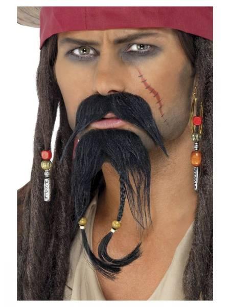 Bilde av Pirat skjeggsett, mørk brun