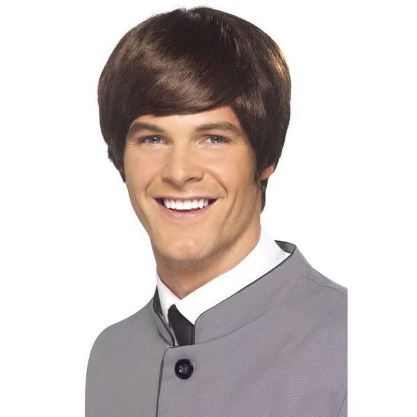 Bilde av 60's Male Mod Wig, brun kort