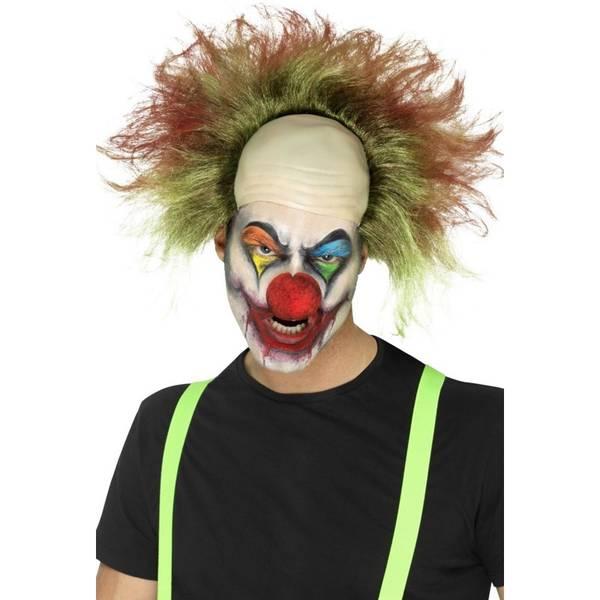 Bilde av Sinister Clown Wig, brun/grønn