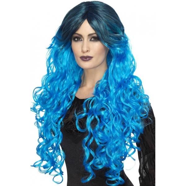 Bilde av Gothic Glamour Wig, blå
