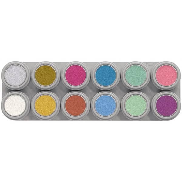 Bilde av P12 Vannsminke palett,12 x 2,5 ml perlemor