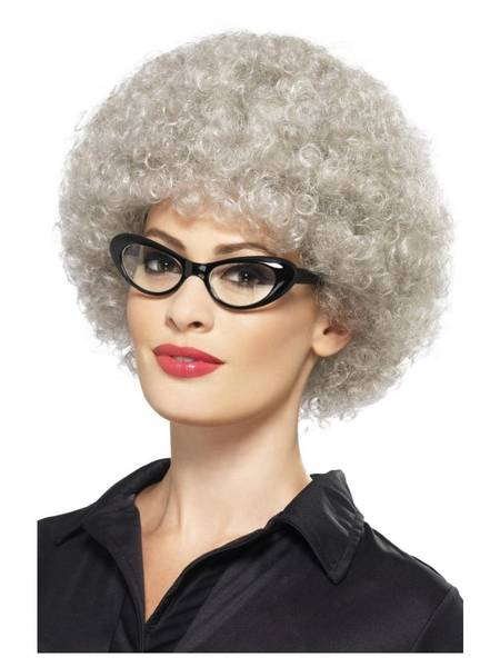 Bilde av Granny Perm Wig, grå