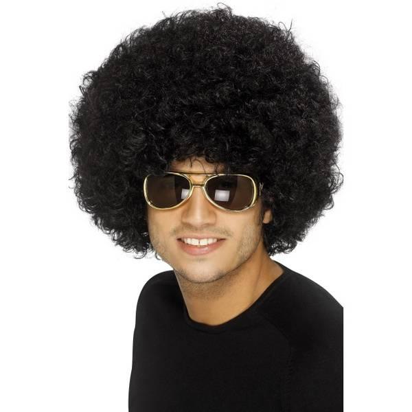 Bilde av 70'S Funky Afro Wig, mørk brun