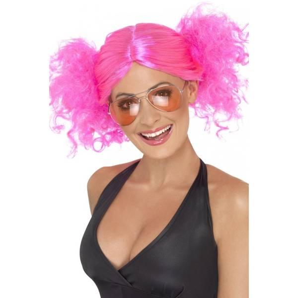 Bilde av 80s Bunches Wig, rosa