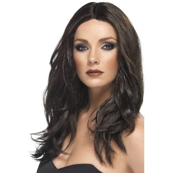 Bilde av Superstar Wig, mørk brun