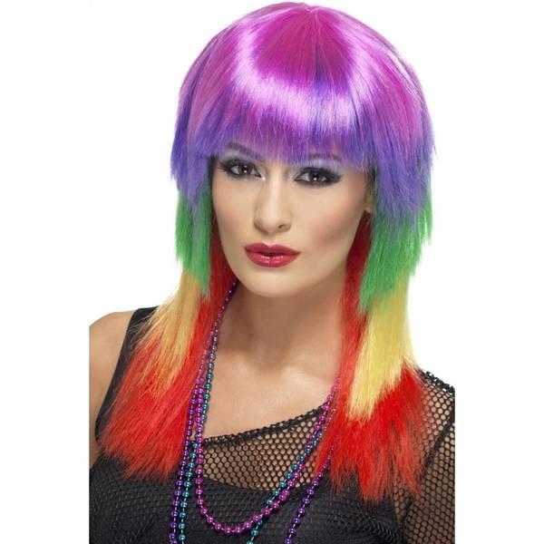 Bilde av Rainbow Rocker Wig, regnbue