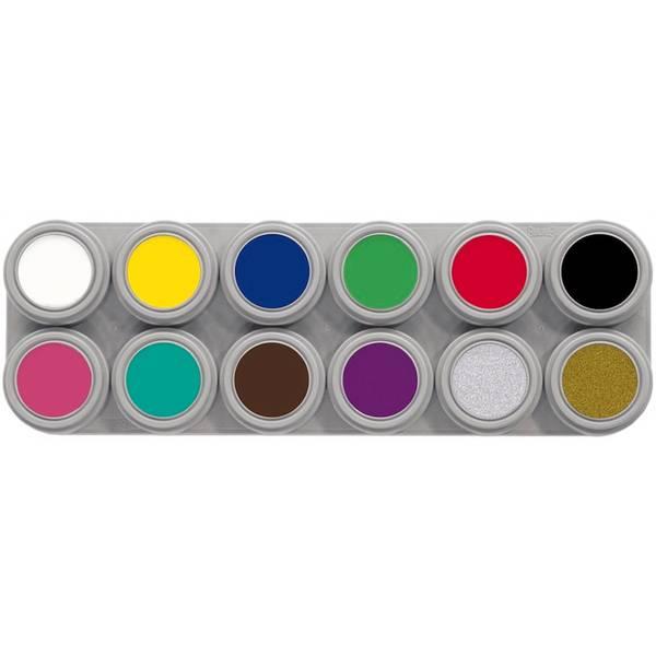 Bilde av A12 Vannsminke palett, 12 x 2,5 ml
