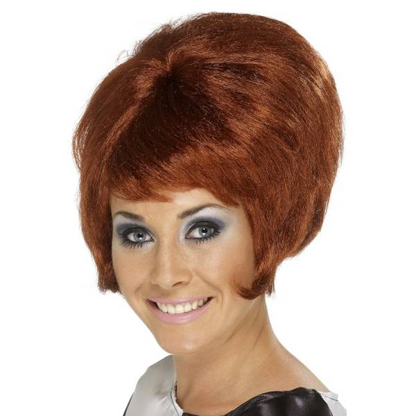 Bilde av 60'S Beehive Wig, rødbrun