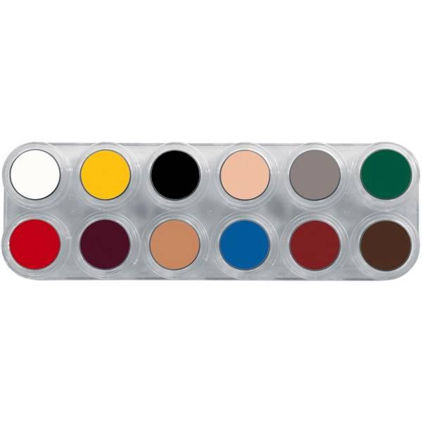 Bilde av B12 Fettsminke, palett 12 x 2,5 ml