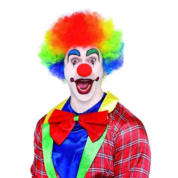 Bilde av Crazy Clown Wig, regnbue