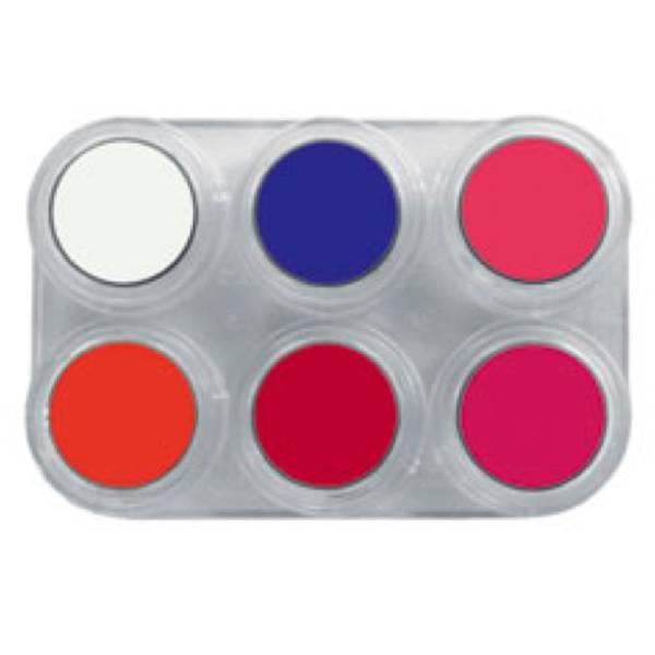 Bilde av F6 Vannsminke palett, 6 x 2,5 ml Fluor