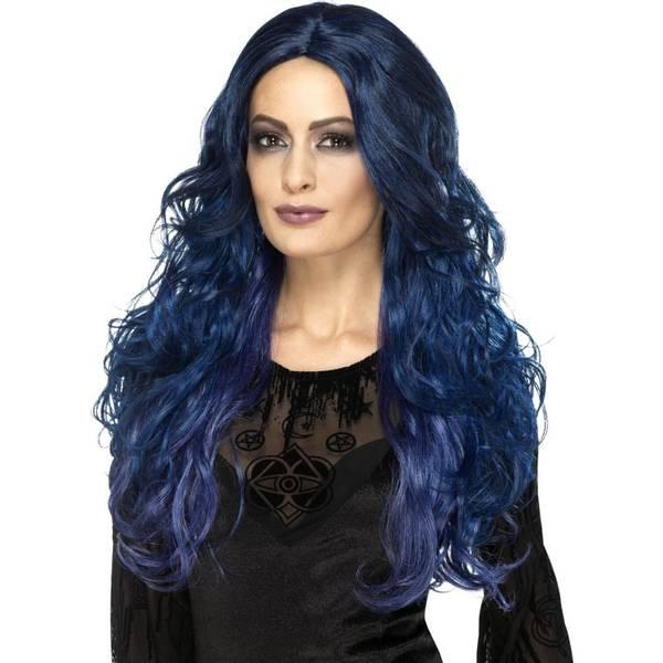 Bilde av Occult Witch Siren Wig, blå/lilla