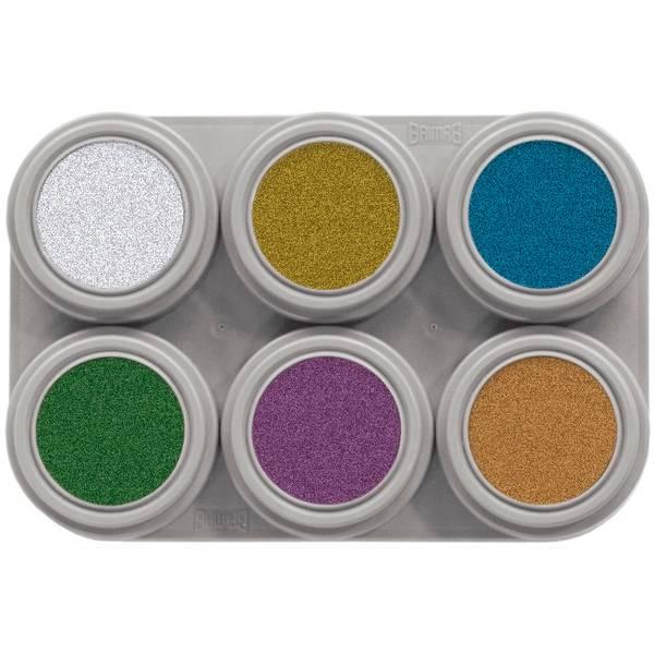 Bilde av M6 Vannsminke palett, 6x2,5 ml Metallic