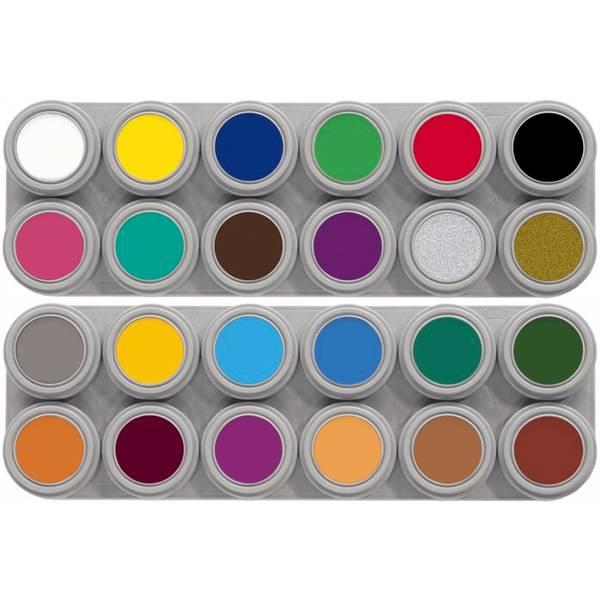Bilde av AB24 Vannsminke palett, 24 x 2,5 ml (A12+B12)